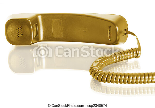 telephone receiver with cable - csp2340574