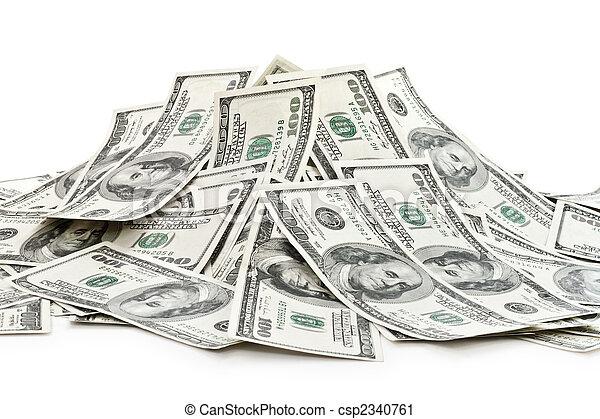 big pile of money - csp2340761