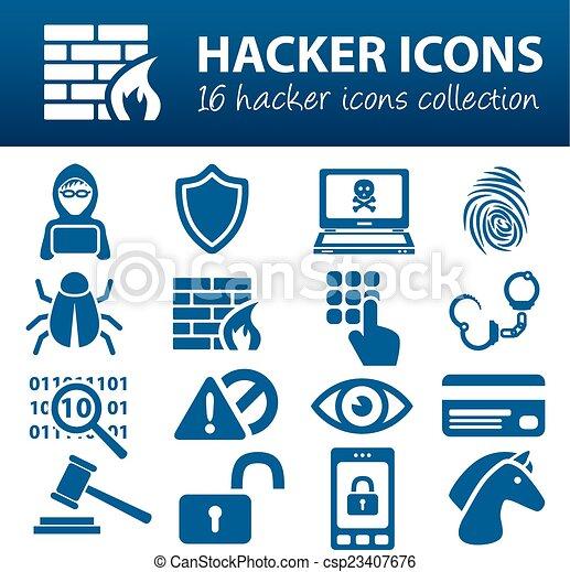 hacker icons - csp23407676