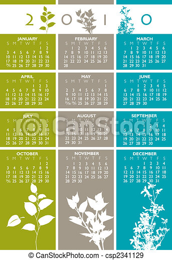 2010 Vector calendar - csp2341129