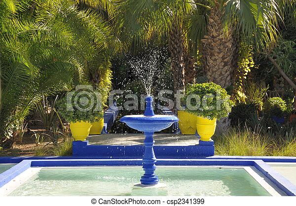 Jardin Majorelle, Marrakech, Morocco - csp2341399