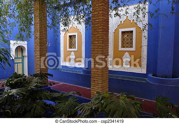Jardin Majorelle, Marrakech, Morocco - csp2341419