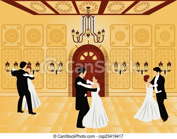 clip art vecteur de dessin anim u00e9  int u00e9rieur    salle bal ballroom dancing silhouette clip art ballroom dancing clip art silhouettes