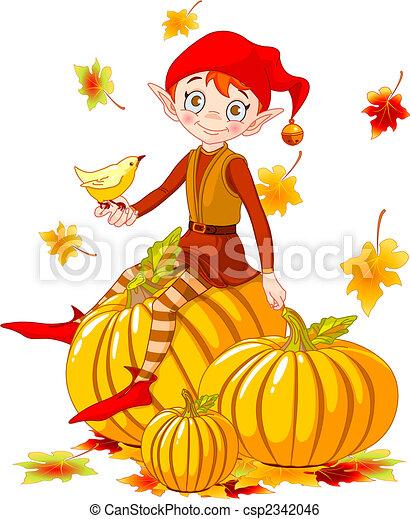 Pumpkin elf - csp2342046
