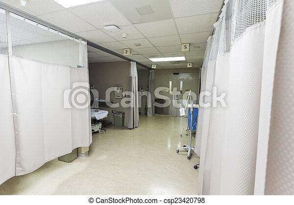 A hospital ward in a modern hospital.