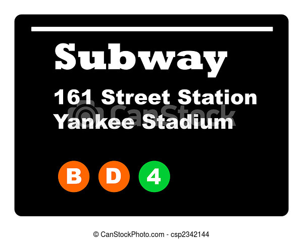 Yankee Stadium subway sign - csp2342144