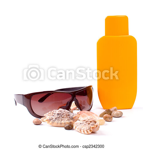 sunglasses and lotion - csp2342300