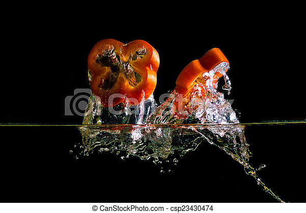 chopped pepper and a splash of water