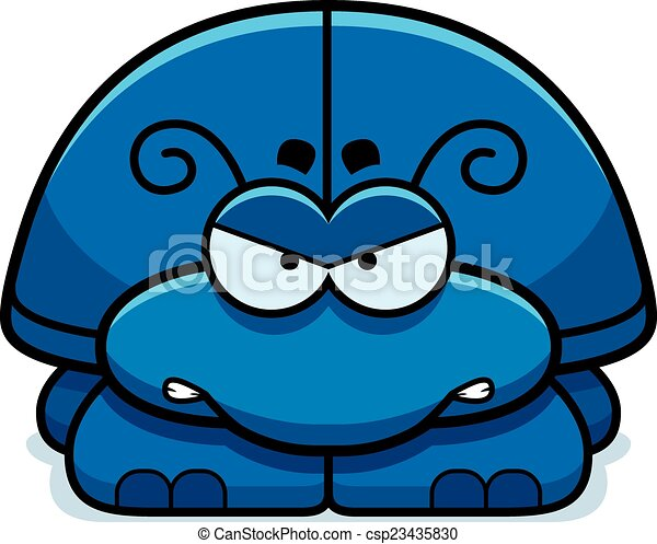 Angry Little Beetle - csp23435830