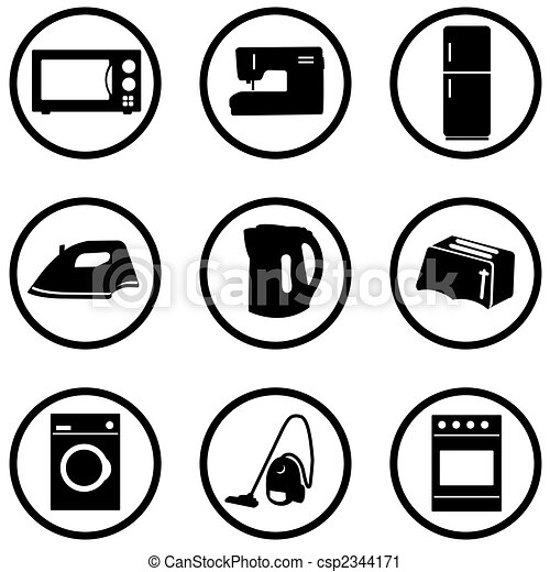 Home appliance icons set - csp2344171