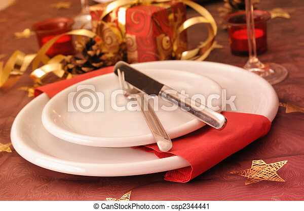 Stock Photography of Christmas dinner - Dinner at christmas day