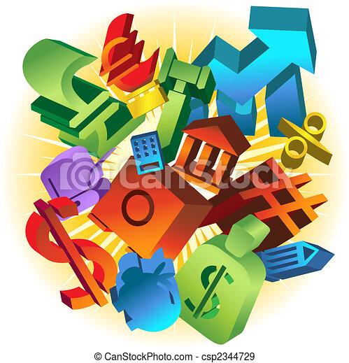 Banking Collage - csp2344729