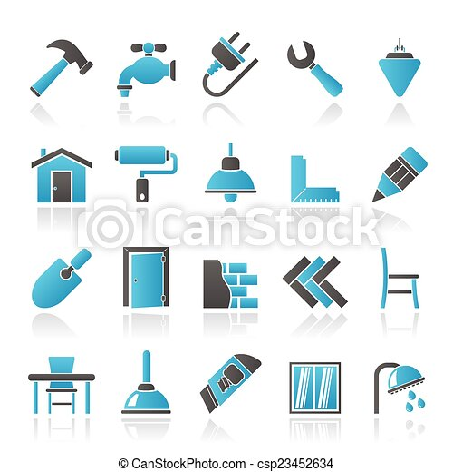 building and home renovation icons csp23452634