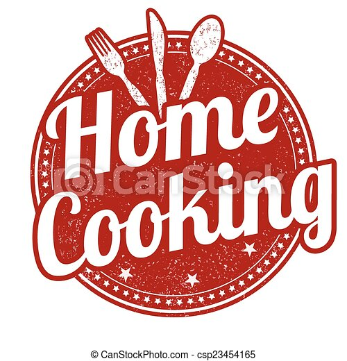 Clip Art Vector of Home cooking stamp - Home cooking ...