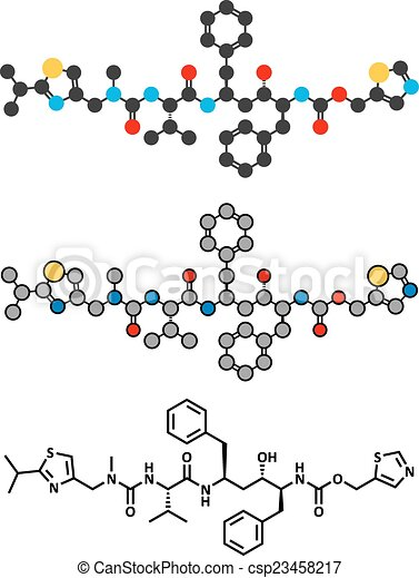 Ritonavir, HIV, 薬, (protease, inhibitor, class), 分子, 従来である