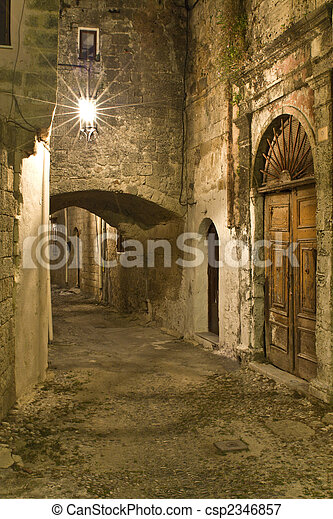 Medieval city of Rhodes in Greece - csp2346857