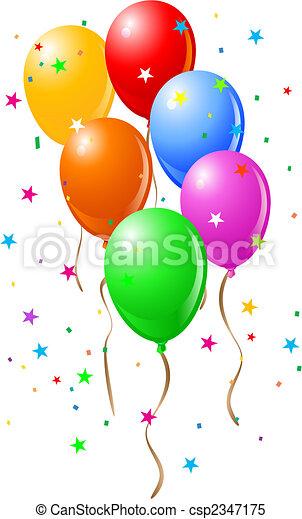 Clipart Vector Van Feestje Voorwerpen Ballons Feestje