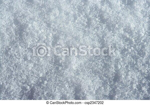 Snow macro detail. Iced white texture - csp2347202