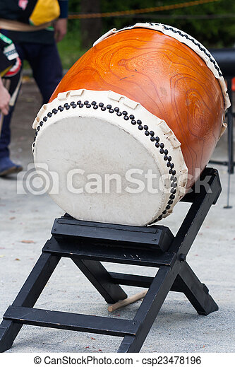 picture of a taiko, japanese drum, in japan tokyo