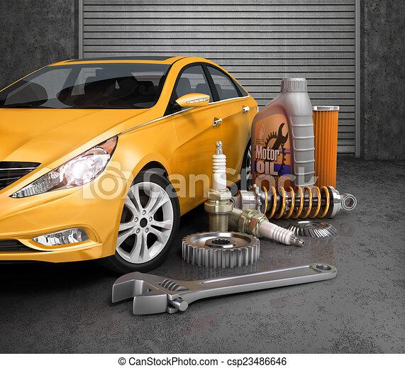 Dessin de beau auto parties garage voiture auto for Garage automobile 38 la buisse