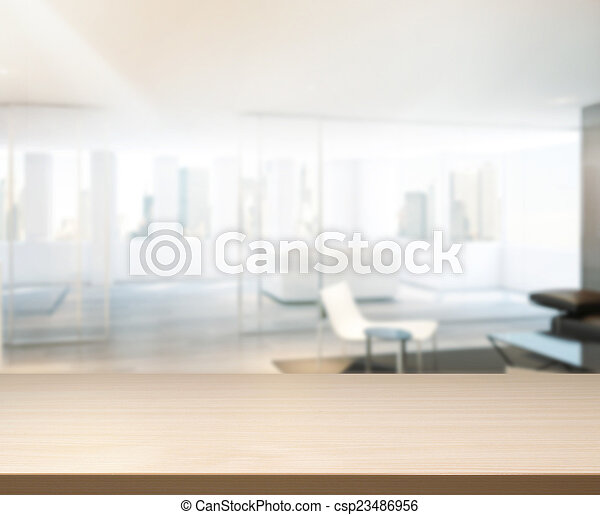Wood Table Of Background in Office