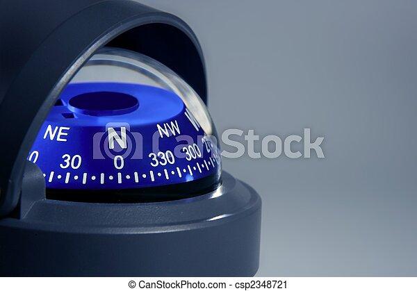 Blue nautical compass close up - csp2348721