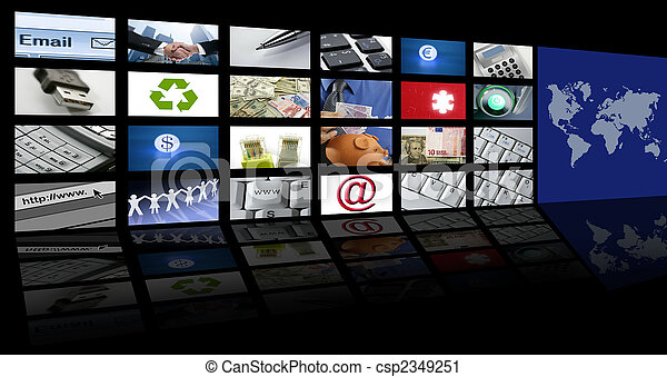 video tv screen technology and communications - csp2349251