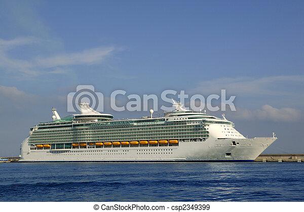 Cruise in Ibiza Island, Mediterranean sunrise - csp2349399