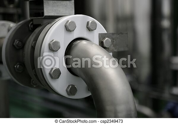 Industrial pipe connection, factory plant - csp2349473