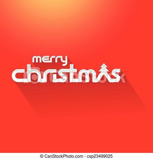 Merry Christmas Text Stock Illustration - csp23499025