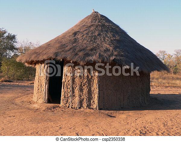 African Hut - csp2350338