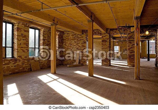 Stock Photos of Construction Site - Interior #1 - Old brick ...