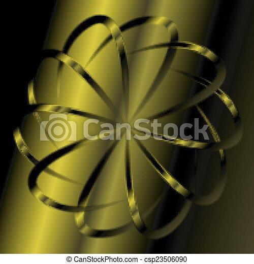 Green swirl background - csp23506090