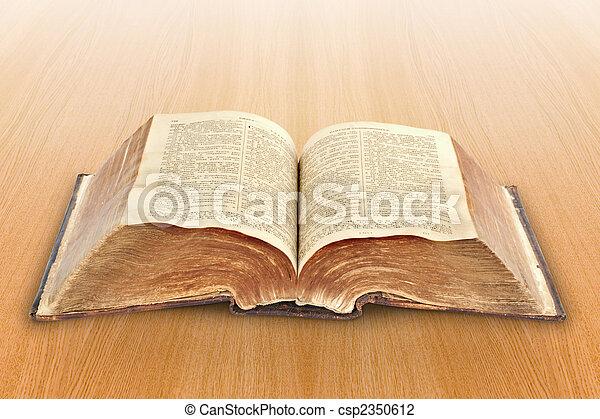 religion., bible, vieux - csp2350612