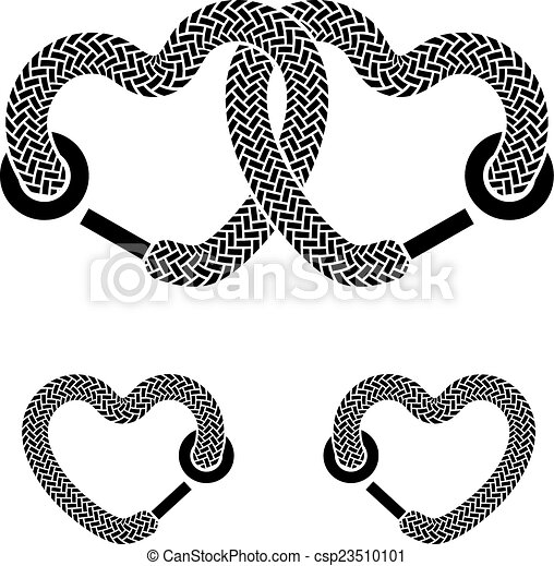 Clipart Vector of vector linked hearts csp8695075 - Search Clip ...