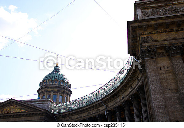 Kazan Cathedral or Kazanskiy Kafedralniy Sobor in Saint Petersburg - csp2351151