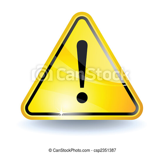 Attention sign - csp2351387