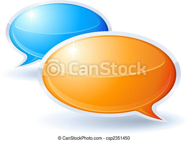 Speech bubbles - csp2351450
