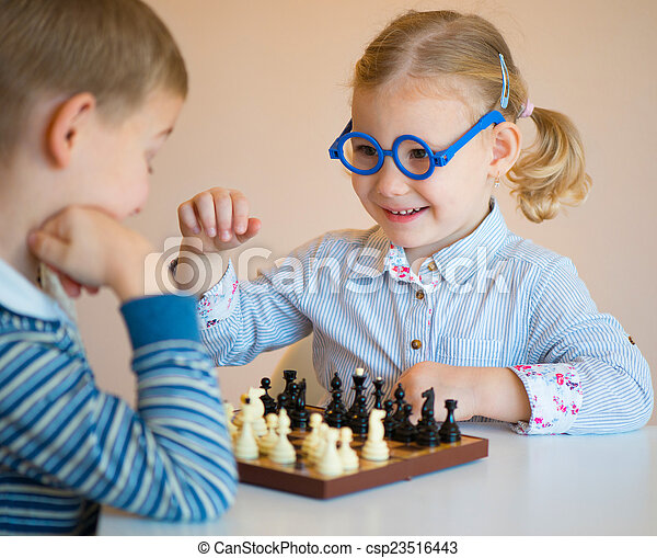 Cute children playing at home