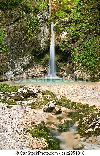 Mystical waterfall I - csp2351816