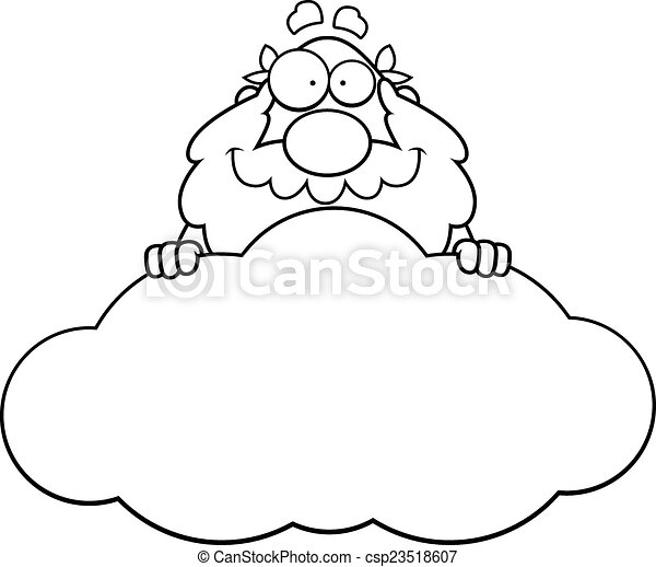 Cloud Cartoon Drawing Cartoon God Cloud