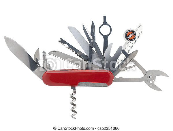 Swiss army knife, isolated - csp2351866