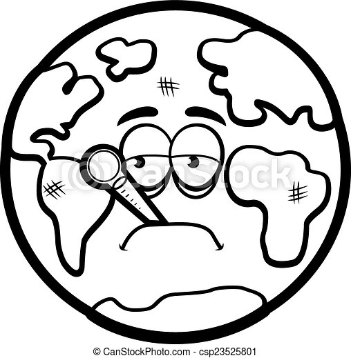 earth day clip art coloring pages