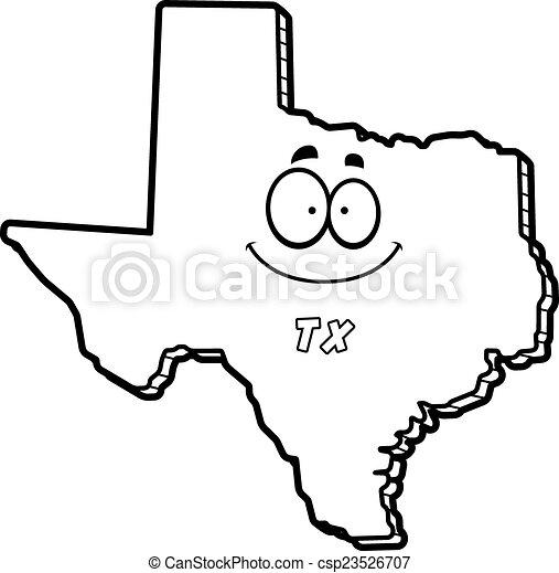 State of Texas Vector Logo Cartoon Texas Csp23526707