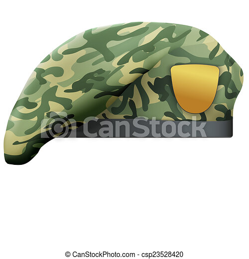 Clip Art of Military Camo Beret Special Forces - Military ...