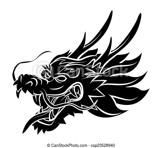 eps vector of dragon head csp23528940 search clip art chinese dragon clipart vectors chinese dragon clipart black and white