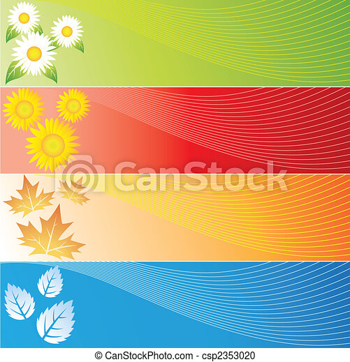 Four Seasons Banners - csp2353020