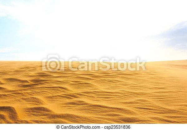 Wave on desert
