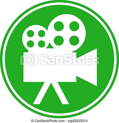 视频, 照相机, 按钮 - csp23533014