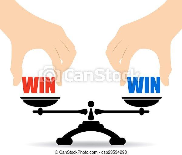 Win win concept - csp23534298